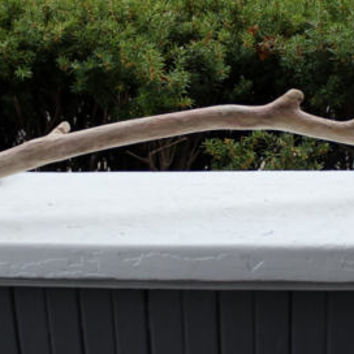 "Single 33"" Curved Knobby Driftwood branch for Mobiles and Windchimes , DIY Driftwood Supplies"