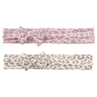 2-Pack Animal Print Headwraps