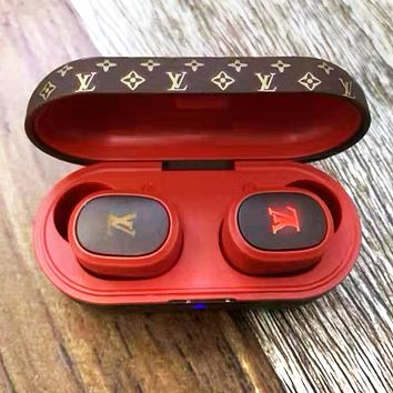 LV Louis Vuitton Bluetooth Headphones Wireless Earbuds Stereo Earphone Cordless Sport Headsets
