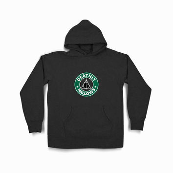 Deathly Hallows Starbuck Logo Tvk Black Hoodie