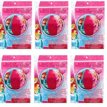 "Party Favors Licensed Disney Princess Inflatable Beach Ball 20""-6 Pack"
