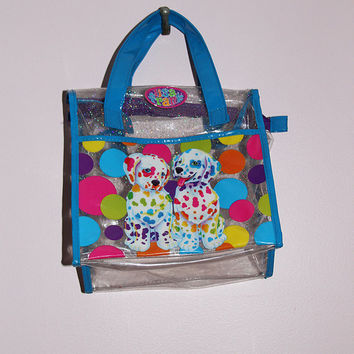 Lisa Frank Dalmation Glitter Clear PVC Purse
