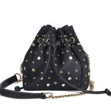 SFG HOUSE River Bucket Women Bag Summer Chain Strap Women Messenger Bags Casual String Girl Cross Body Bags