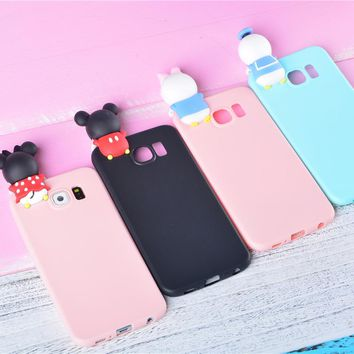 3D Cute Soft TPU Mickey Minnie Mouse case For Samsung S5 S6 S7 edge S8 Plus J5 J7 A3 A5 A7 2016 2017 Note 3 4 5 Funny Cases Capa