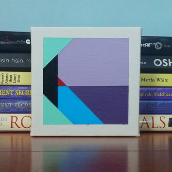 Tiny Canvas Minimalist Contemporary Modern Art Original Geometric Fine Art Acrylic Wall Art Painting