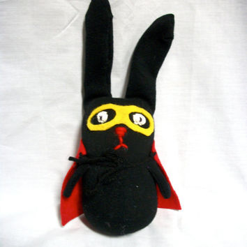 Rabbit Sock Animal Rocket by RopeSwingStudio on Etsy