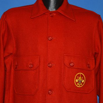 70s Boy Scouts Of America Official Jacket Large
