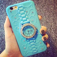 Watch Iphone Sillicon Case Cover for 6 6S Plus