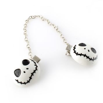 Jack Skellington Sweater Clip - Spiffing Jewelry