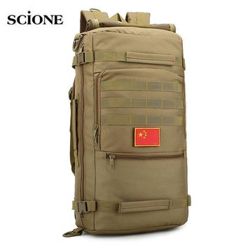 Molle 50L Camping Rucksack Tactical Military Backpack Tactical Backpacks Camouflage Hiking Outdoor Bag Sac De Sport Pack XA632WA