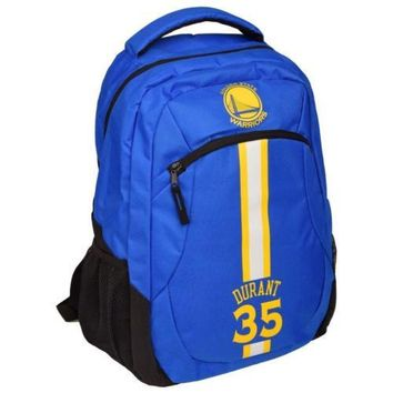 * Golden State Warriors Action Backpack School Book Gym Bag - Kevin Durant #35