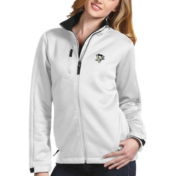 Pittsburgh Penguins Antigua Traverse Full-Zip Jacket – White