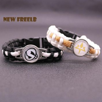 2017  Sun and Moon Team Skull Aether Foundation Paracord Bracelet Rope Chain Outdoor Fashion Jewelry for Women Men fansKawaii Pokemon go  AT_89_9