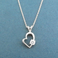 Open, Heart, Cubic, Simbol, Gold, Silver, Necklace, Birthday, Lovers, Best friends, Mom, Sister, Gift, Jewelry