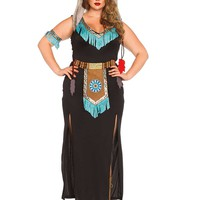 Adult Plus Size Wolf Warrior Costume