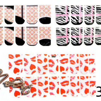 1 pcs Nail Art Tips Decals Sticker Foils Design by KBazaar on Etsy