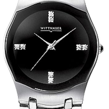 Wittnauer 10D02 Men's Swiss Black Dial Diamond Watch