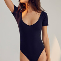 Out From Under Hailee Ribbed V-Neck Bodysuit | Urban Outfitters