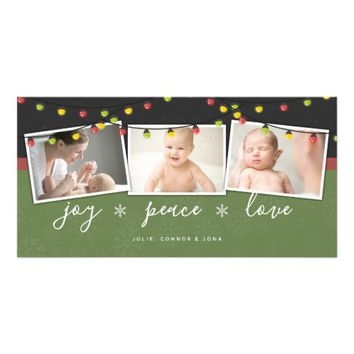 Christmas Lights | Christmas Photo Card