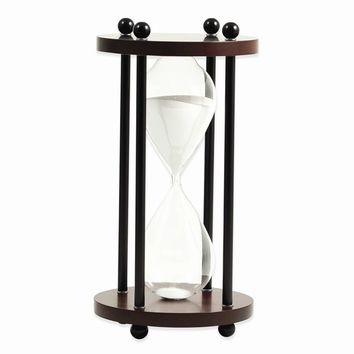 Walnut or Natural Wood Ten Minute Sand Timer