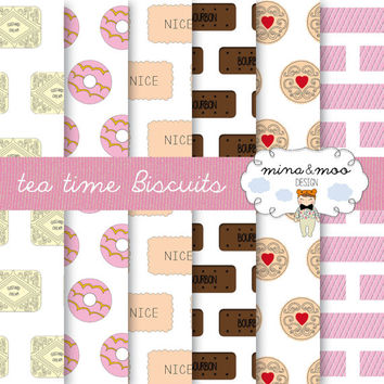 Tea time biscuit clipart, family favourites clipart, biscuits and tea