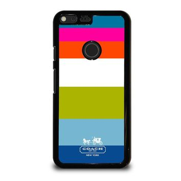 COACH NEW YORK STRIPE Google Pixel XL Case Cover