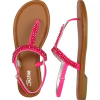 Beaded T-strap Sandals | Girls Sandals & Wedges Shoes | Shop Justice
