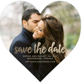 Cute Heart Shaped Personalized Save the Date Cards