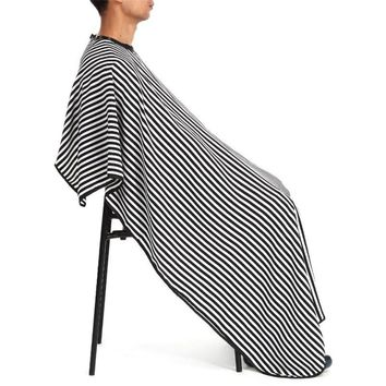 Stripe Hair Cutting Hairdressing Waterproof Cloth Salon Barber Gown Cape Hairdressing Hairdresser Adult Cape Gown Wrap
