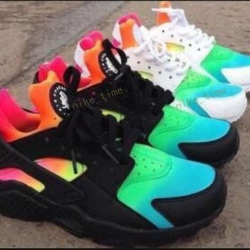 Newest Style Huaraches Rainbow Colors Running Shoes For Men & Women