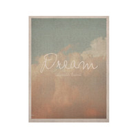 "Suzanne Carter ""Dream"" Quote Clouds KESS Naturals Canvas (Frame not Included)"