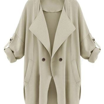 Cupshe Out Of Shadows Big Lapel Cardigan