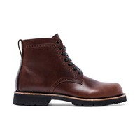 "Broken Homme Tydus 6.5"" Perforated Boot in Brown"