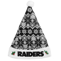Oakland Raiders 2015 Knit Santa Hat