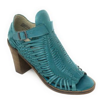 Naughty Monkey Killion Turquoise Heeled Leather Sandals
