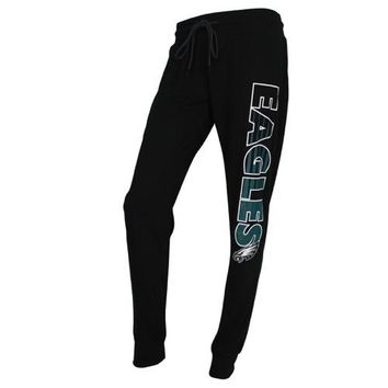 Philadelphia Eagles Sweep Ladies Solid Knit Jogger Pants