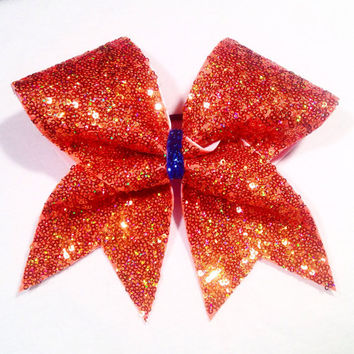 Sassy Sequins Cheer Bow