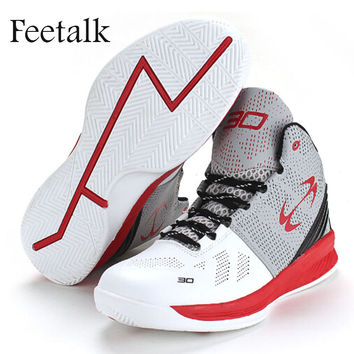 Feetalk Children Basketball Shoes Outdoor Kids Sneakers Shockproof Breathable Boys Girls Sport Shoes Running Shoes Shop Online