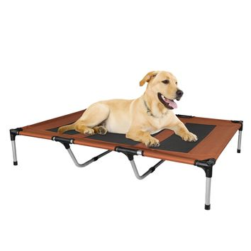Elevated Dog Bed Portable Indoor Outdoor Garden Extra Large Brown