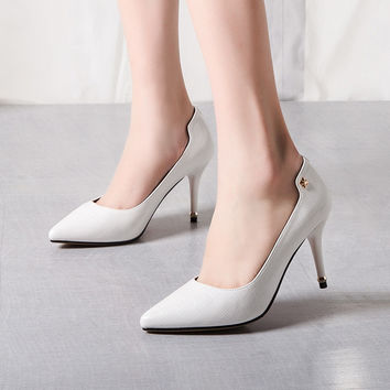 Summer High Heel Elegant Metal Shoes [4919958532]