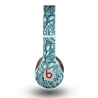The Abstract Blue Feather Paisley Skin for the Beats by Dre Original Solo-Solo HD Headphones