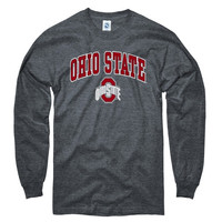 Ohio State Buckeyes Dark Heather Perennial II Long Sleeve T-Shirt