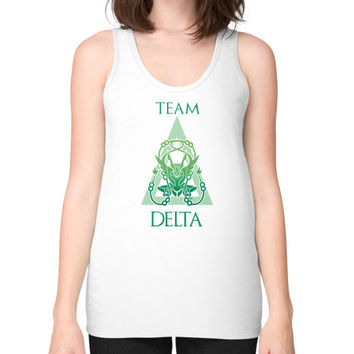 Team Delta Unisex Fine Jersey Tank (on woman)