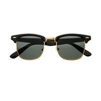 Polarized Anti Glare Lens Retro Style Clubmaster Sunglasses W1330