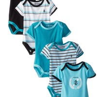 Izod Baby-Boys Newborn Boys Five-Pack Bodysuits