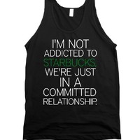 Starbucks Relationship-Unisex Black Tank