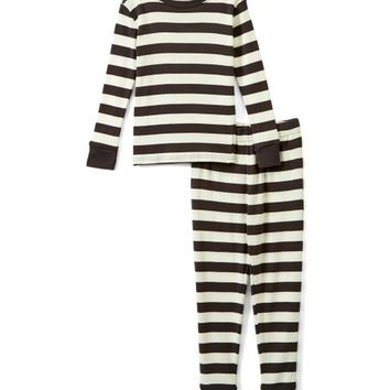 Black & White Stripe Organic Cotton Pajama Set - Infant, Toddler & Kids