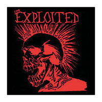 Exploited Men's Lets Start A War Cloth Back Patch Black