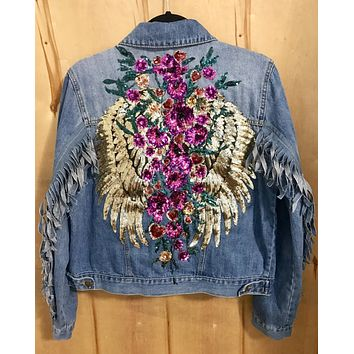 NEW Angels Purple Denim Jacket REGULAR SIZE