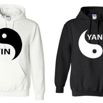 Yin Yang couple Sweatshirt men women couple lovers Hoodie US standard plus size S-3XL
